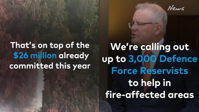 Scott Morrison slammed after tweeting 50-second 'ad' spruiking new bushfire measures