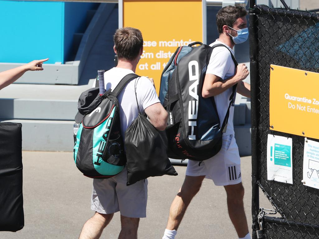 Tennis players who stayed at the Grand Hyatt will all be retested for COVID-19 on Thursday. Picture: David Crosling/NCA NewsWire