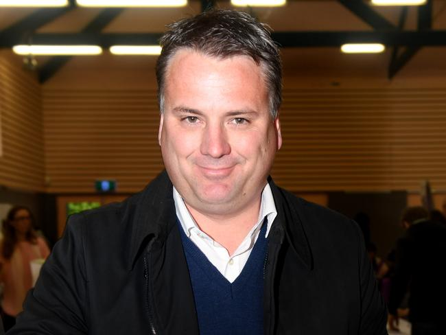 Victim of the X factor ... Jamie Briggs at the voting booth. Picture: Tricia Watkinson