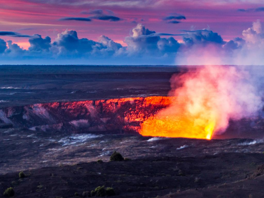 The Big Island is probably best known for its fiery volcanoes, like Kilauea (pictured).