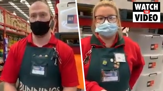 Bunnings: woman films her own meltdown over COVID-19 masks