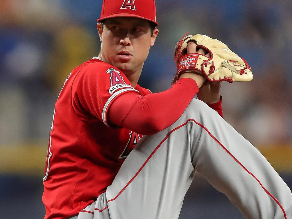 Tyler Skaggs was the starting pitcher for the Angels.