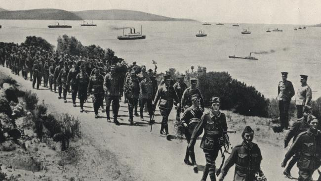 Off to war ... Historical image of Anzacs departing Albany in 1914. Source: City of Albany.