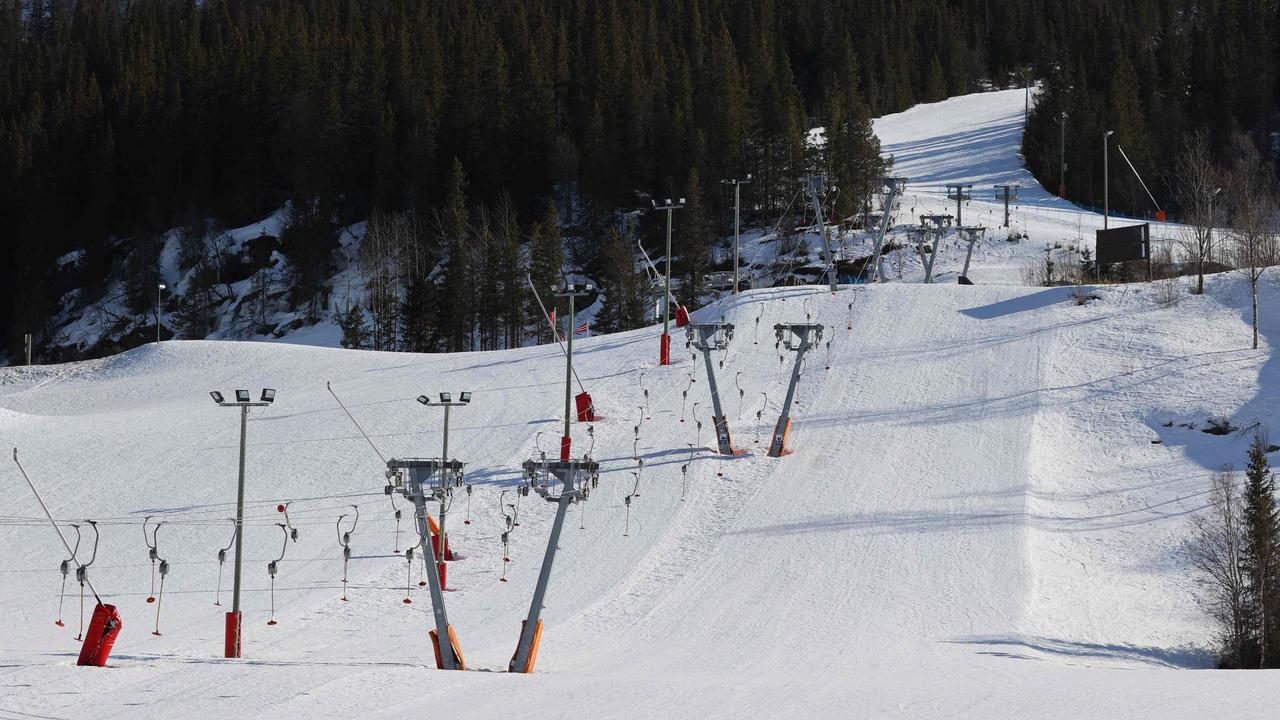 A deserted Norwegian ski field. Picture: Orn E. Borgen/NTB Scanpix/AFP.