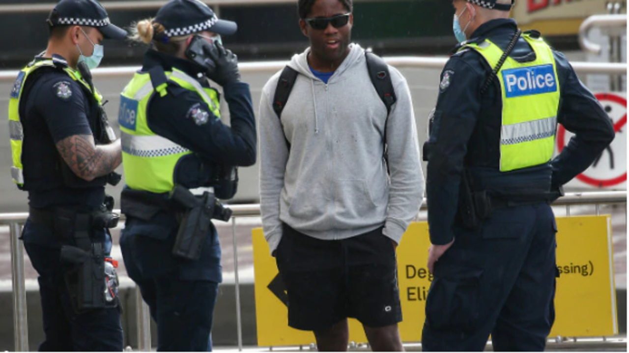 Police out and about in Melbourne