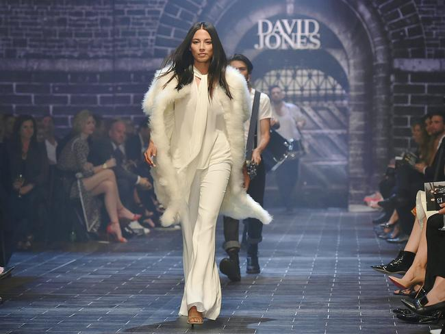 Gomes dominated the runway at the David Jones launch.