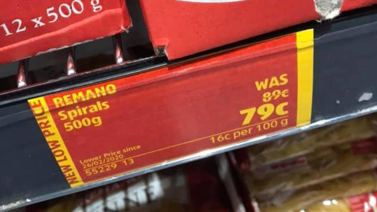 Shoppers slam ALDI for 'misleading' price hike/ Picture: Facebook / Aldi Fans