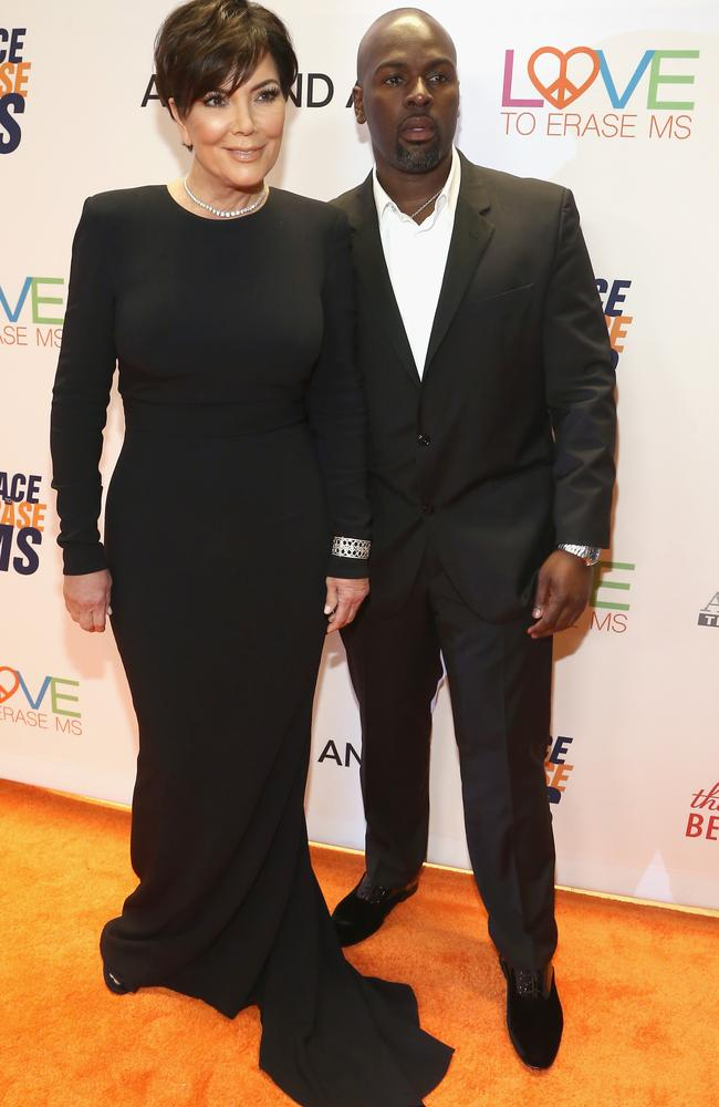 Kris Jenner and Corey Gamble attend a charity gala at the Beverly Hills Hilton. Picture: Tommaso Boddi/Getty Images for Evine