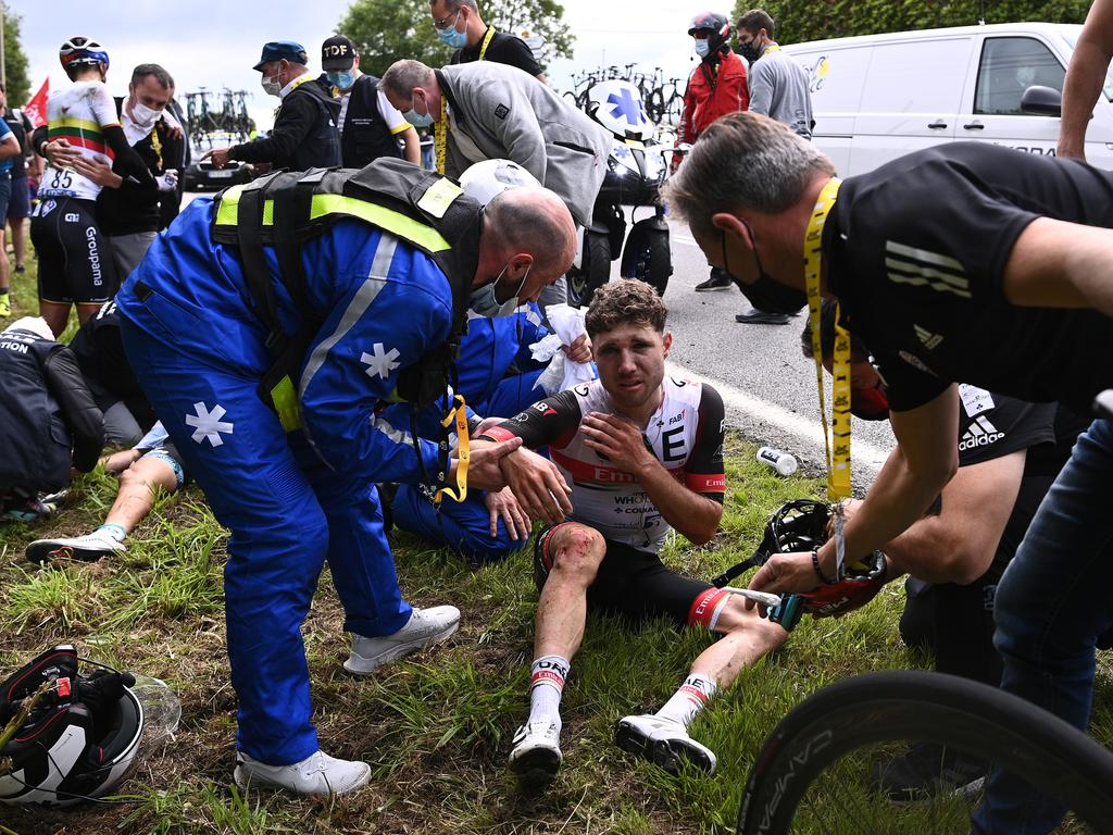 There was absolute carnage in stage one. (Photo by Anne-C - Pool/Getty Images).