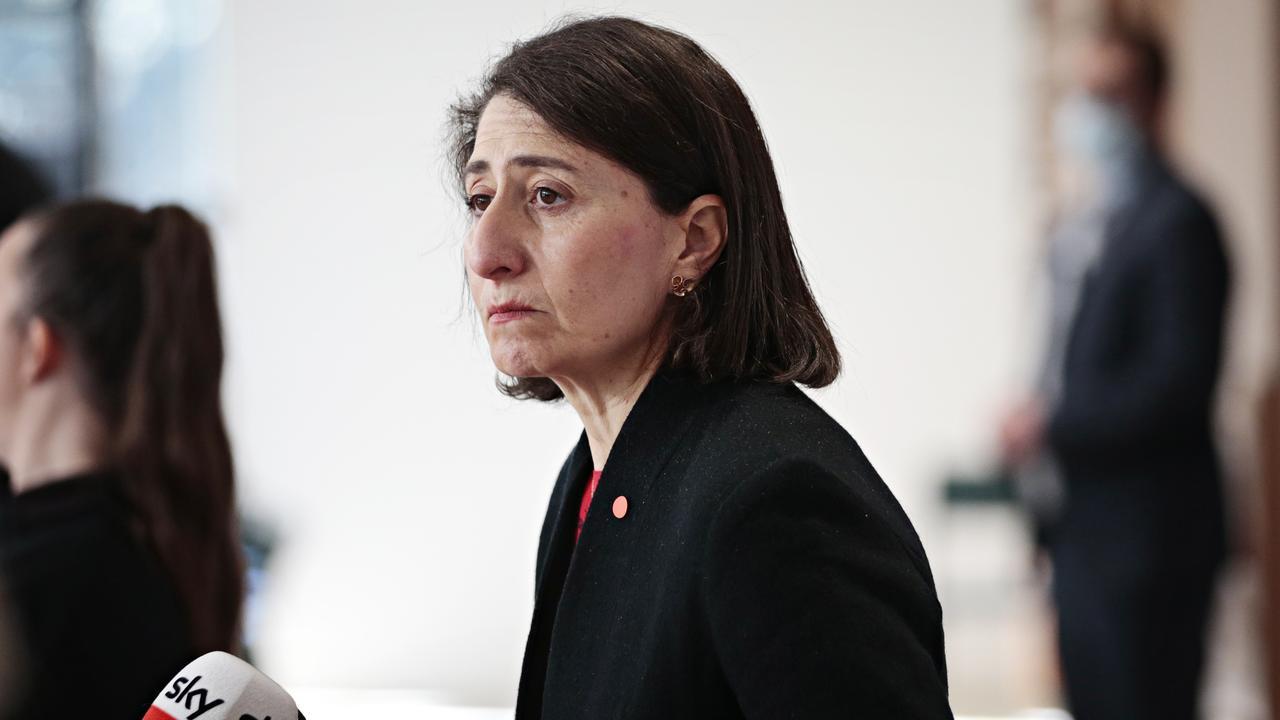 NSW Premier Gladys Berejiklian announced the new cases. Picture: NCA NewsWire / Adam Yip