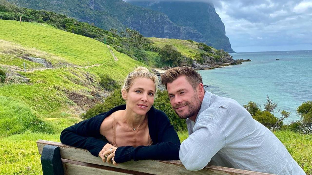 Chris Hemsworth has taken to social media to rave about his family to Lord Howe Island. Picture: Instagram/@chrishemsworth