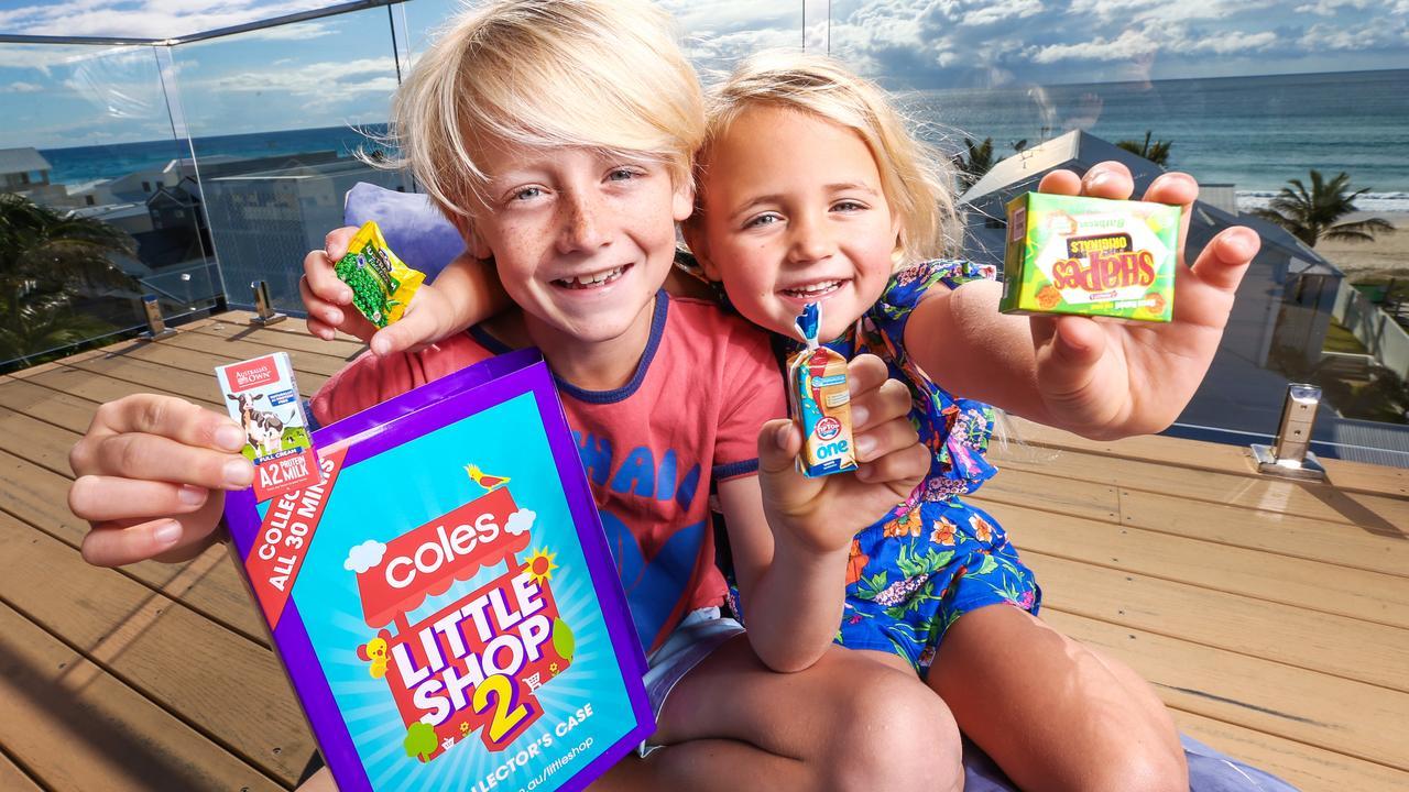 Coles' Little Shop promotion was wildly popular. Picture: Nigel Hallett