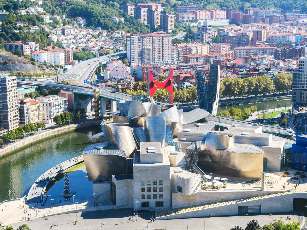 Bilbao Guggenheim Museum view