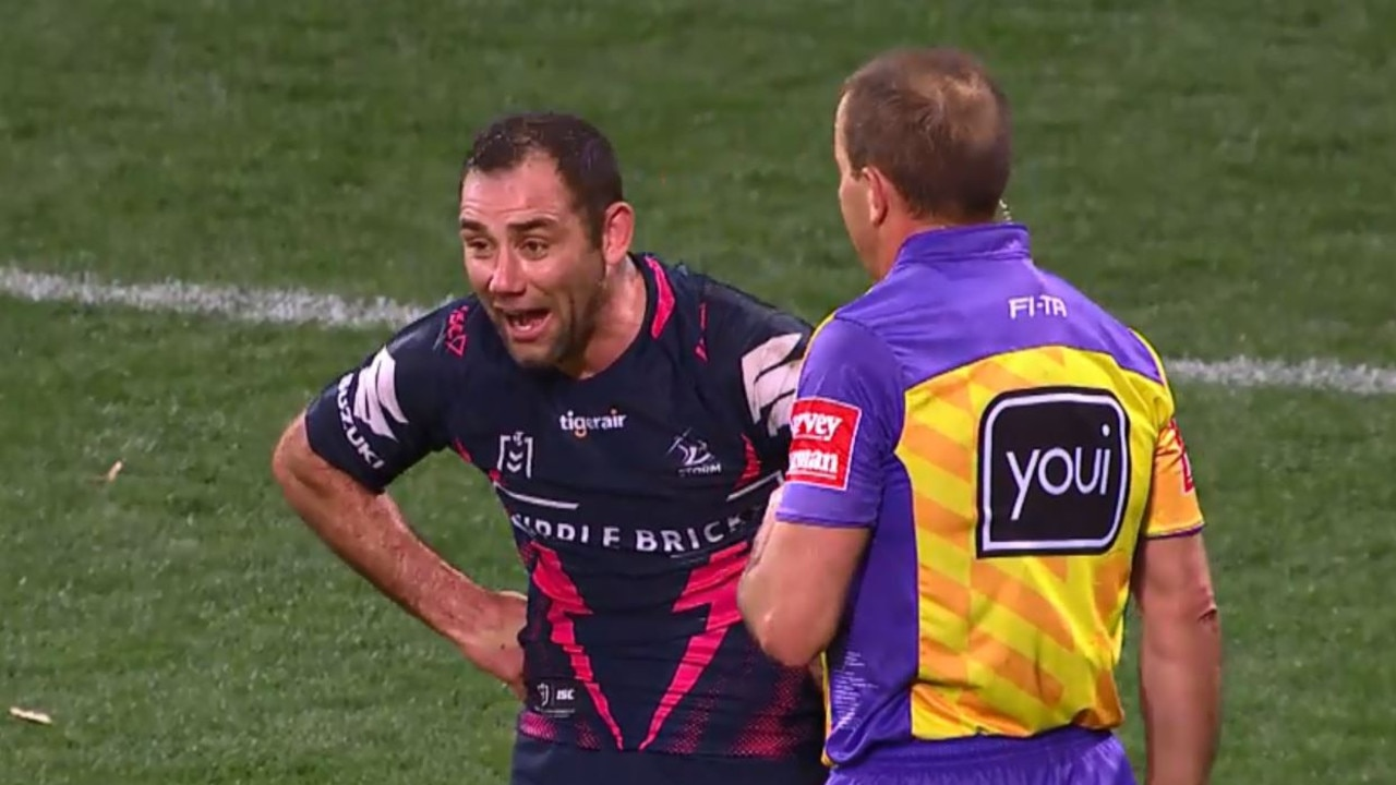 Cameron Smith Smith cops penalty for 'rubbish on the face'