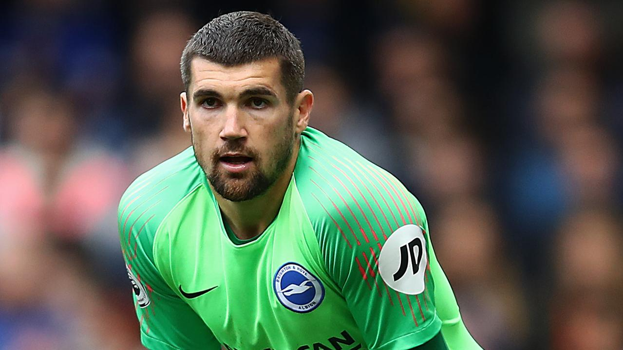Mat Ryan left Brighton to try get a start at Arsenal and he could get that this weekend. (Photo by Julian Finney/Getty Images)