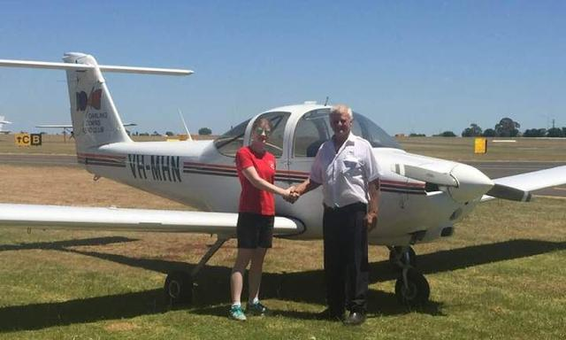 Emily passed her pilot's license test. Picture: supplied.