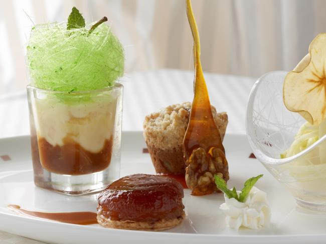 A dessert plate, one of the 12,000 meals Celebrity Equinox kitchens produce daily. Picture: Supplied