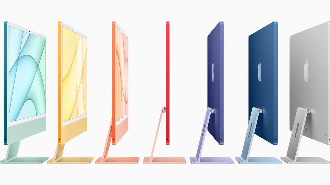 The new Apple iMac with slim screens and an M1 processor. Picture: Supplied
