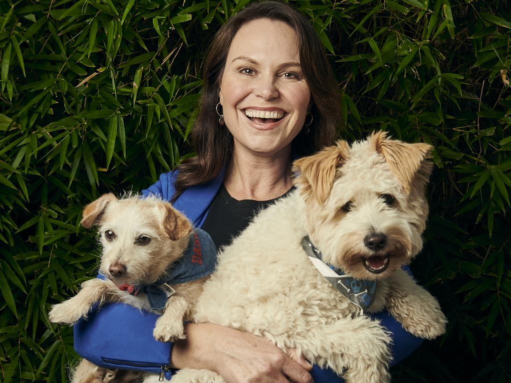 Lara Shannon with her dogs Darcy (left) and Vindi. Picture: Eugene Hyland