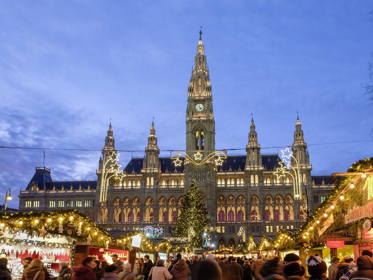 Vienna at Christmas, Rathausplatz & Vienna City Hall - Austria