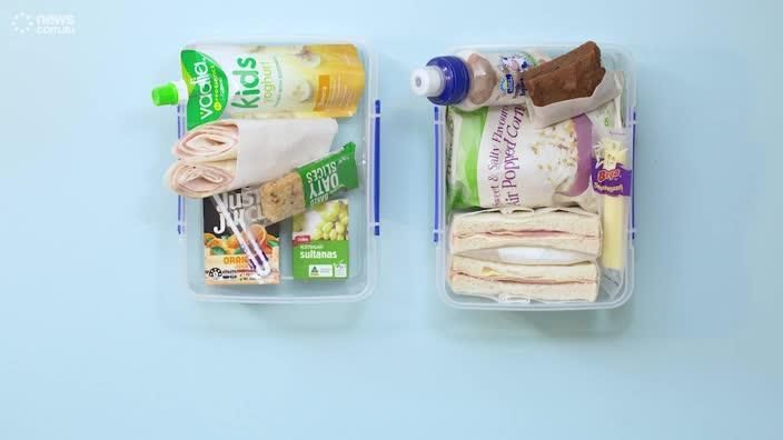 Which lunchbox is 'healthier'?