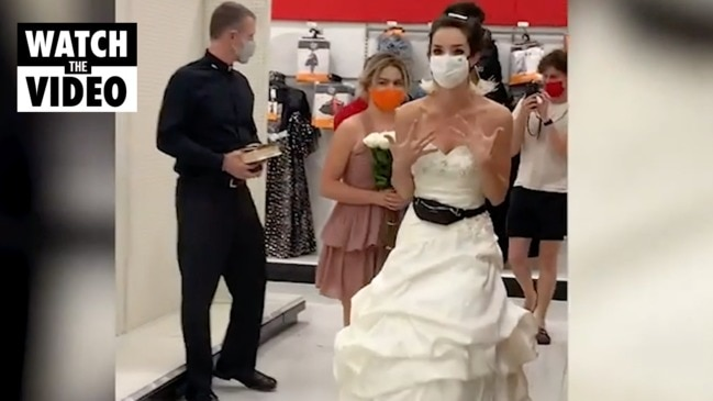 Bride storms into store demanding fiancé marries her right now!