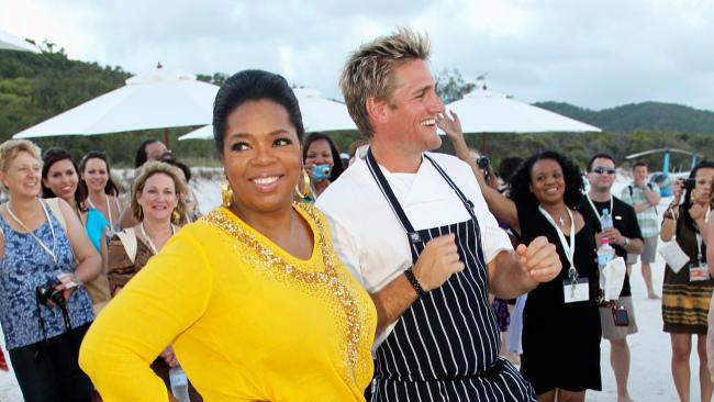 4/18It was Oprah's first stop on her Ultimate Australian Adventure. Curtis Stone cooked dinner on the beach.