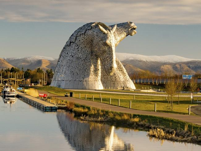 7/15The Kelpies, Scotland The mane attraction of Scotland, the Kelpies has been the largest equine sculpture in the world since its construction in 2013. The 30m high sculptures depict shapeshifting water spirits, which are known to possess the strength and endurance of 10 horses; a quality that is associated with the endurance of Scotland's inland waterways.  LOCATION:  Visitor Centre The Helix FK2 7ZT, United Kingdom