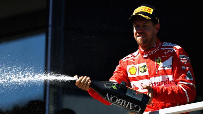 Sebastian Vettel wins the Brazilian Grand Prix.