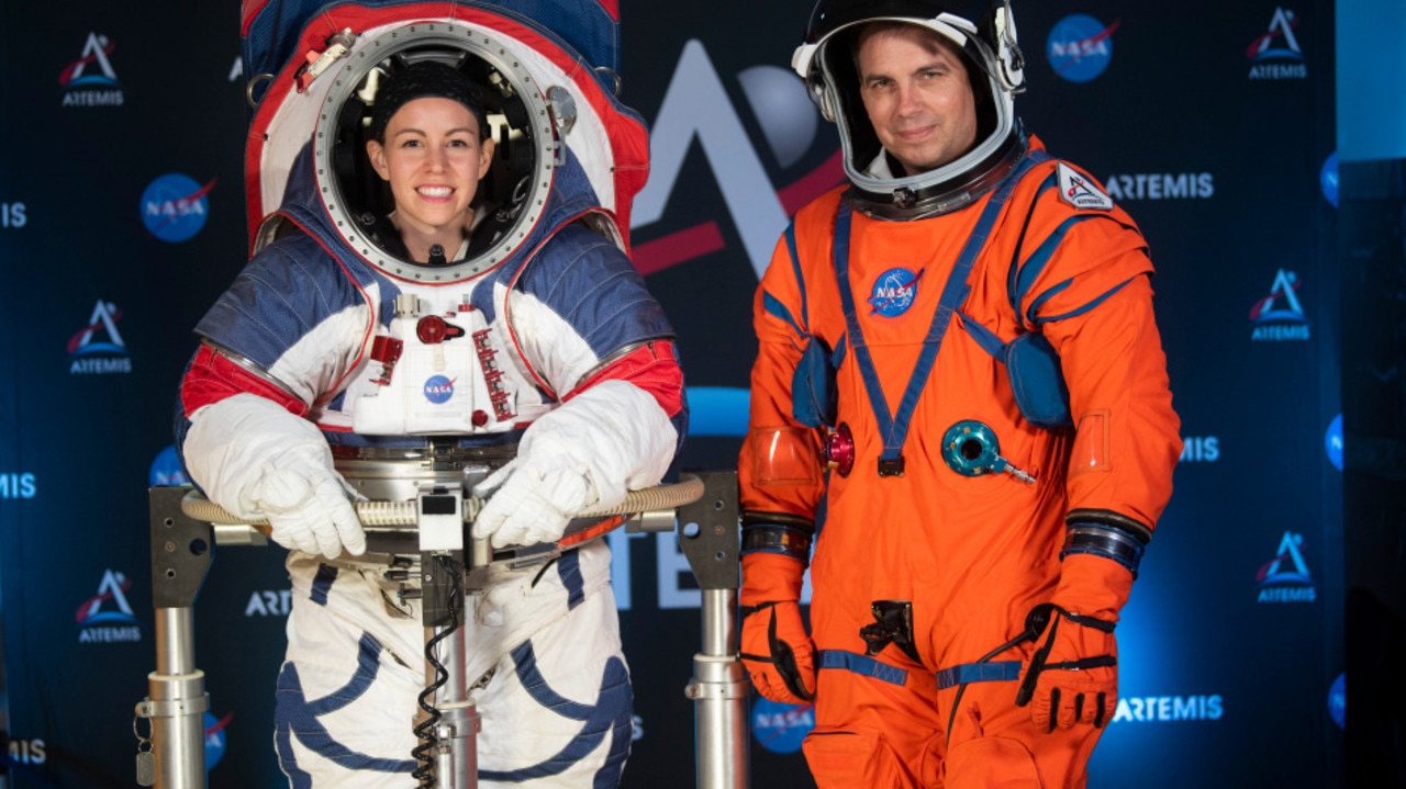 Nasa unveiled two new spacesuits designed for moonwalking last year Credit: AP:ASSOCIATED PRESS