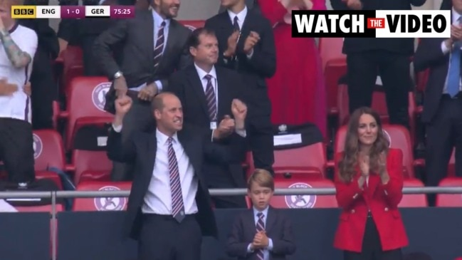 Prince William, Kate Middleton and George go wild over England Euros win (BBC Sport)