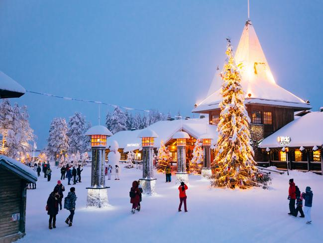 LAPLAND, FINLAND The home of Santa Claus himself, Lapland is without a doubt the most festive place on Earth. Around Christmas, most of Lapland experiences days and even weeks without sunlight – which makes a visit to the charming twinkle light village of Rovaniemi (pictured) even more magical.  PRO TIP: For the ultimate magical getaway, opt for a stay at the Arctic Treehouse, where you can experience uninterrupted views of the Northern Lights from the comfort of your own bed.