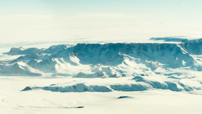 The dramatic landscape of the white continent.