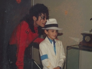 A young Wade Robson with Michael Jackson. Image: Supplied.
