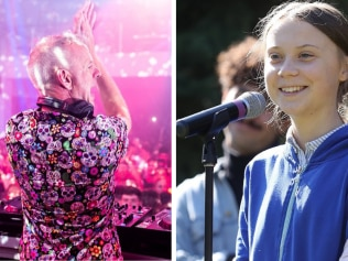 Fatboy Slim has mashed up Greta Thunberg's 'right here, right now' speech. Source: Instagram