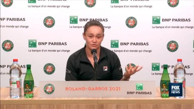 """""""Pressers are apart of the job"""" - Barty disagrees with Osaka's media snub"""