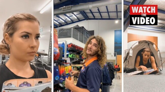 Bunnings husband searcher tries luck at Boating Camping Fishing