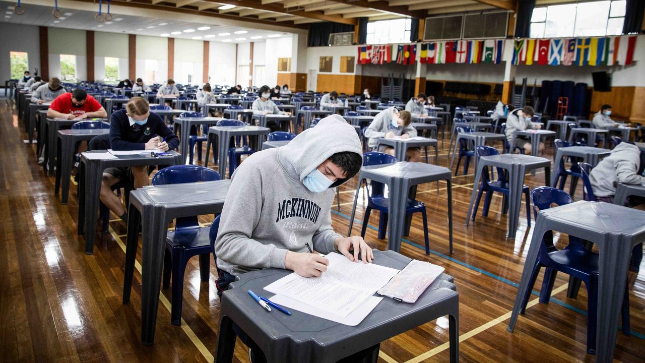 Some VCE students fear they may catch the virus and be unable to sit exams. Picture: Nicole Cleary