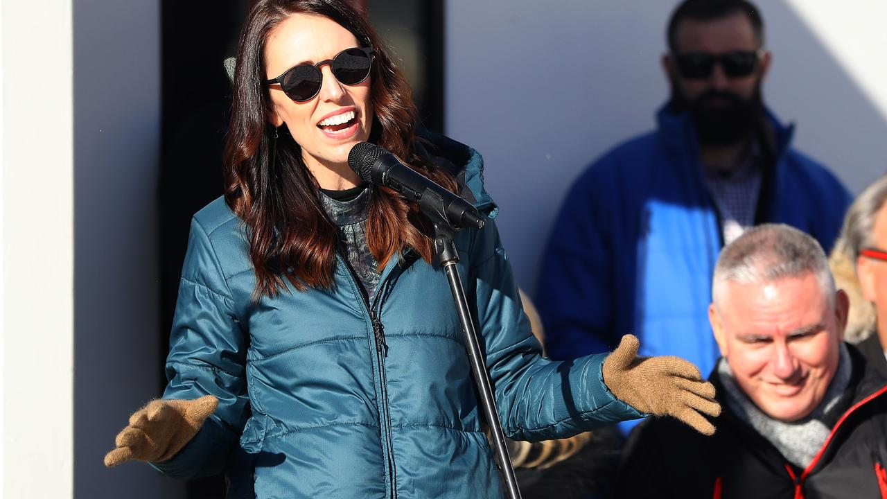 All smiles on the slopes. Jacinda Ardern is one of New Zealand most popular ever politicians. Time will tell if COVID blunders and policy fails dents that. Picture: Hannah Peters/Getty Images.