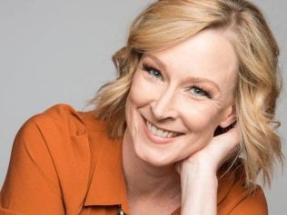 Leigh Sales maintained her professionalism as a man hurled his yoghurt at her during Perth's Disrupted Festival. Source: Facebook