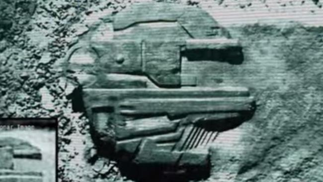"""Unidentified object ... artist Tod Twentytod's graphic depiction of the """"Baltic Sea Anomaly"""". Picture: sonofmabarker/YouTube"""