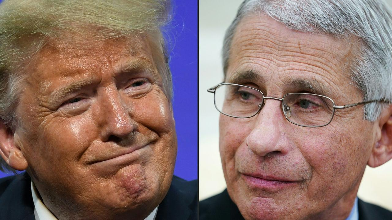 There appeared to be a difference of opinion at the time between Fauci and then US President Donald Trump. Pictures by Saul Loeb and Mandel Ngan/AFP