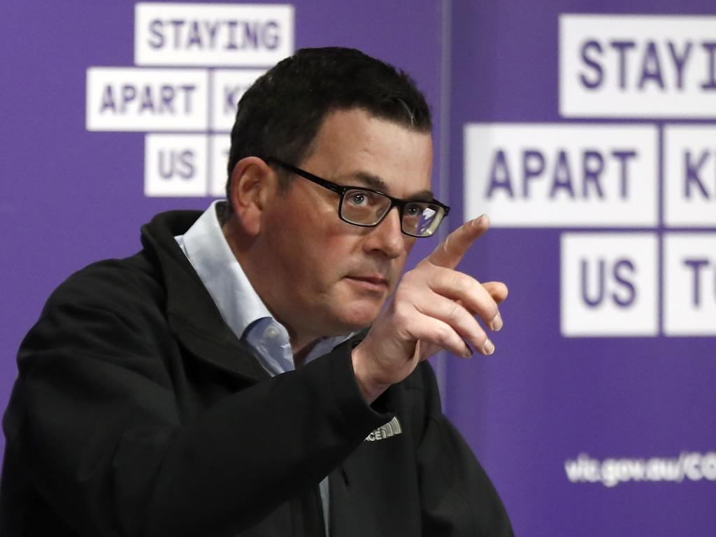 Victorian Premier Daniel Andrews took a thinly veiled swipe at Ms Grollo on Saturday. Picture: Darrian Traynor/Getty Images