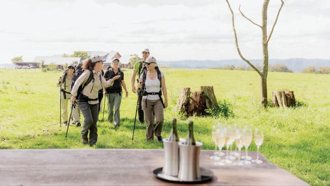 Champagne arrival on 2 day- part of Spicers retreat 5 day guided hike through Spicers Rim.