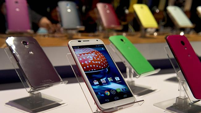 The Motorola Moto X when it was unveiled in August 2013. Picture: AFP.