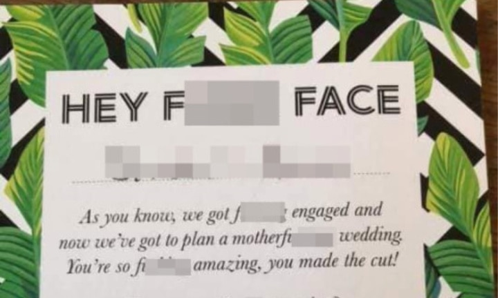 Couple slammed for 'insulting' wedding invitation