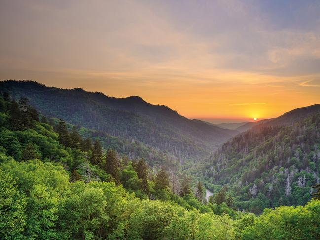 "3. GREAT SMOKY MOUNTAINS NATIONAL PARK, USA: The park — ""bizarrely little celebrated outside the USA"" — has recovered from the wildfires that ripped through in 2016. ""This is a great time to enjoy a wallet-friendly national park adventure,"" according to Lonely Planet. Picture: SeanPavonePhoto / Getty Images"