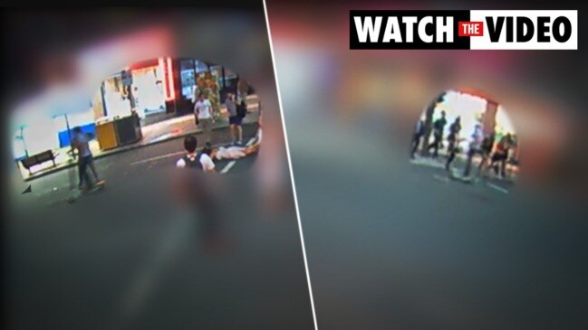 Shocking moment young woman is struck by a Lime scooter