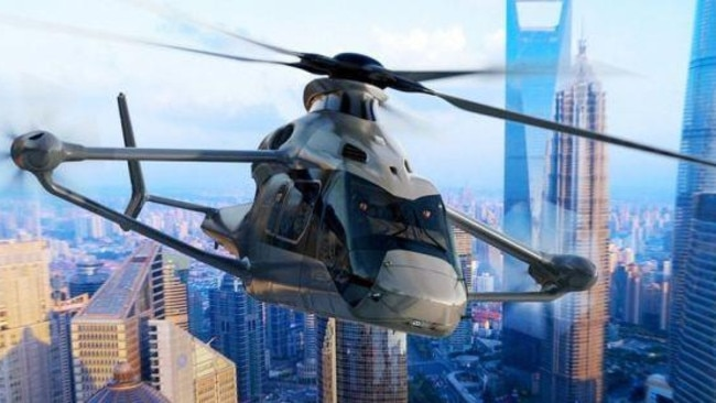 The futuristic-looking RACER helicopter (Airbus)