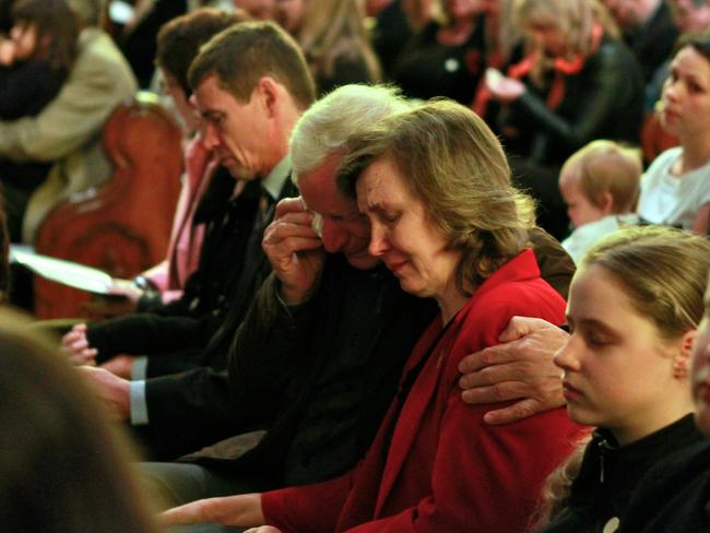 In mourning ... a National Memorial service for victims of MH17 at the St Paul's Cathedral in Melbourne. Picture: Eddie Jim
